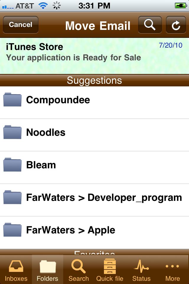 eMailGanizer Screenshots